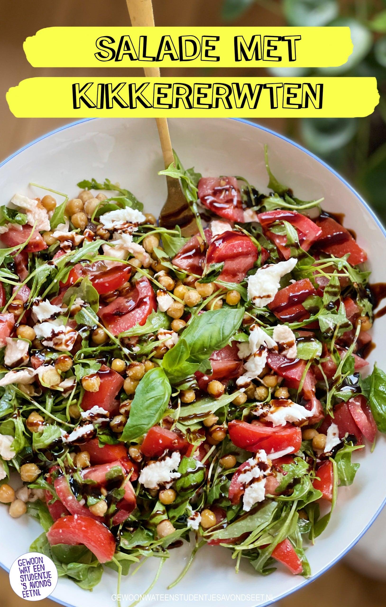 salade caprese met kikkererwten