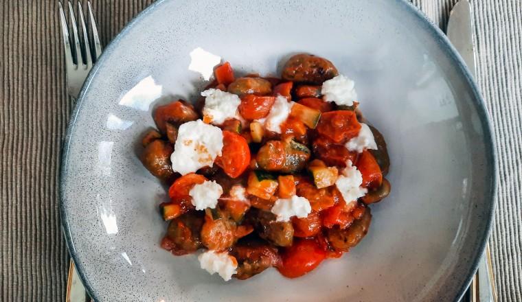 Gnocchi met tomatensaus en buffelmozzarella