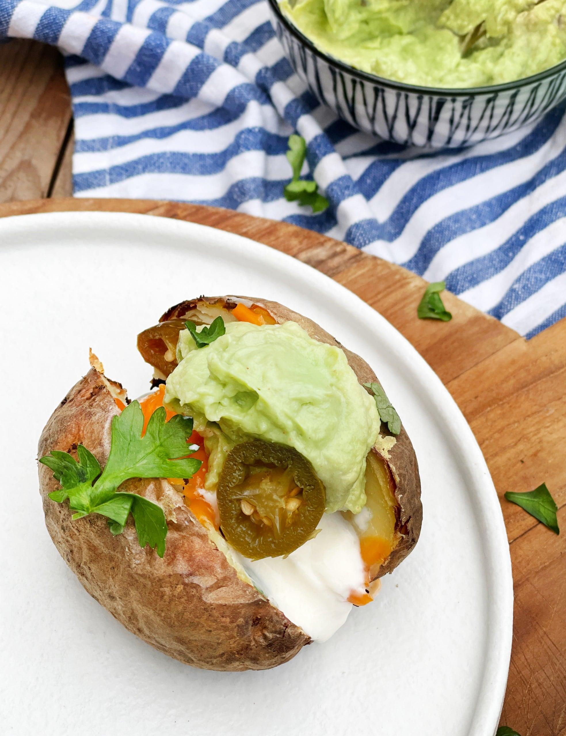 Mexicaanse bbq gepofte aardappel