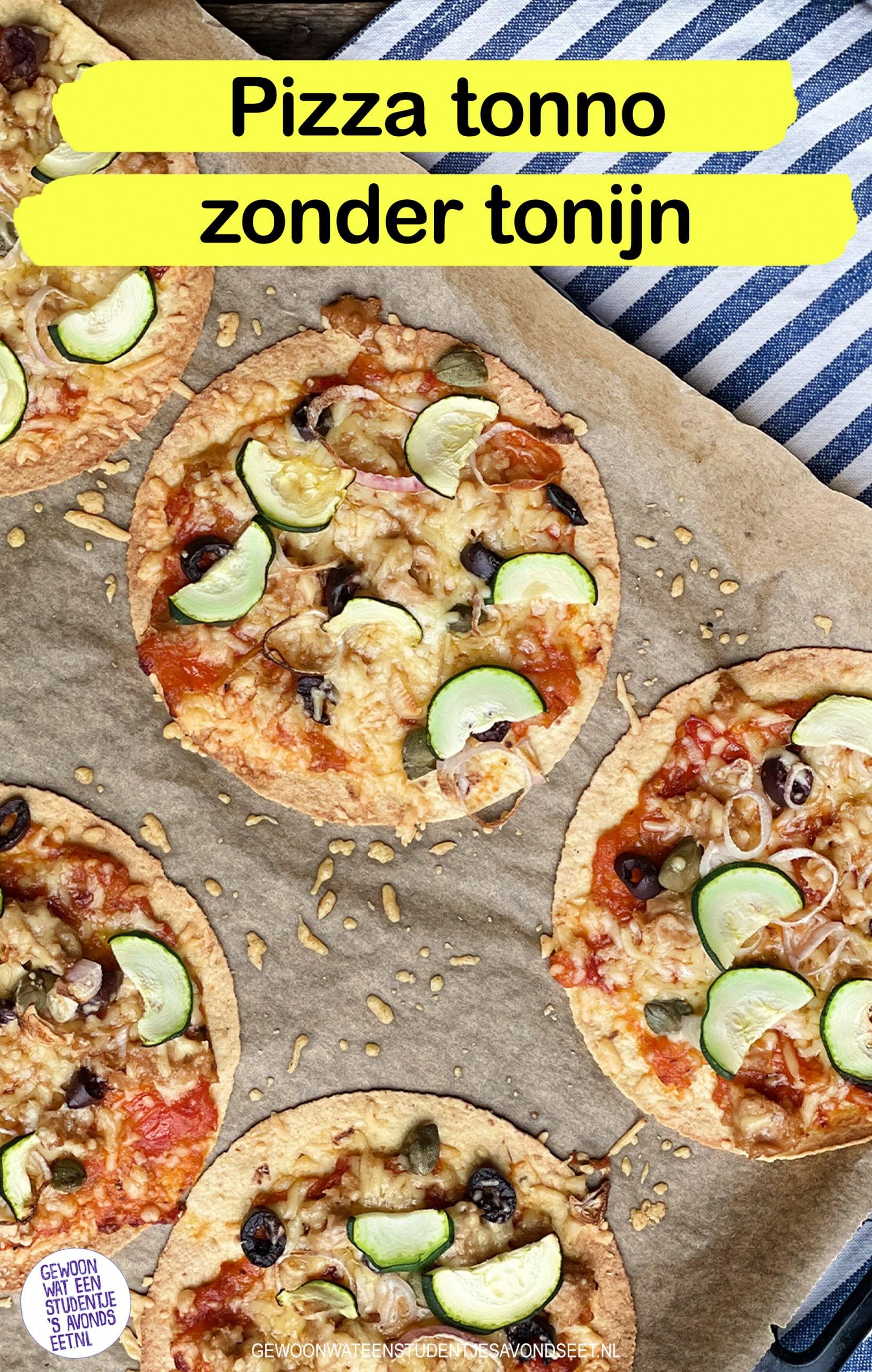 pizza tonno zonder tonijn